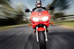 moto moviéndose a velocidad