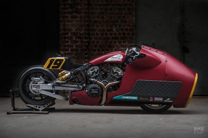 Drag Bike: una Indian Scout Bobber de 135 hp de Workhorse alimentada con nitrógeno