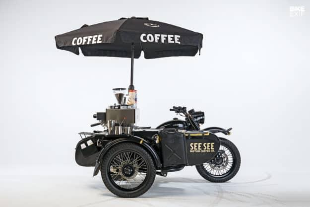 Más café que corredor: el sidecar Ural con máquina de espresso incorporada