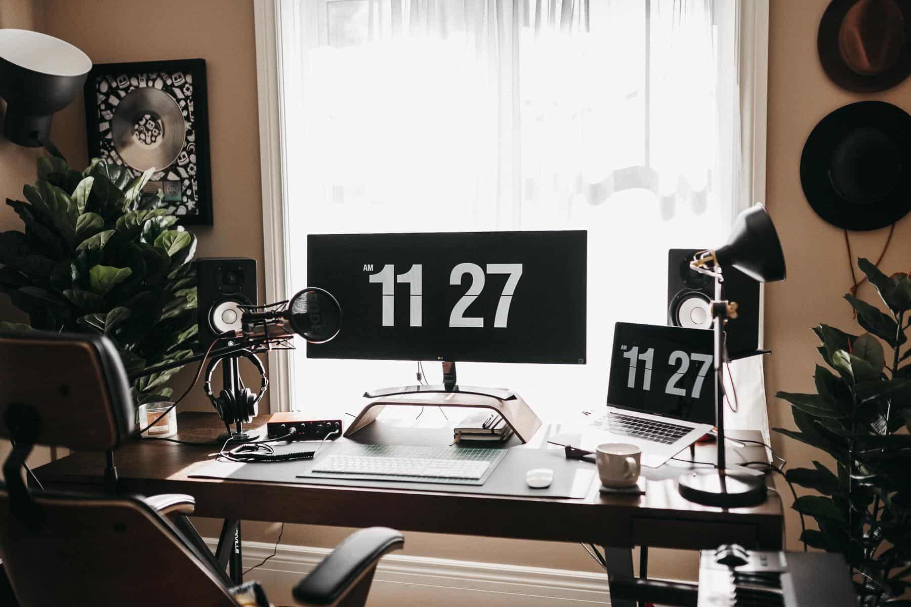 Oficina en casa para juegos